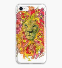 Groovy Golden Psychedelic Lion iPhone Case/Skin