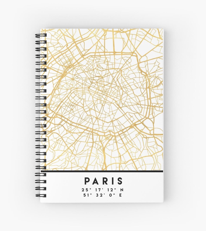 paris france city street map art by deificusart