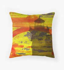 Roanoke River Lighthouse Abstract Throw Pillow
