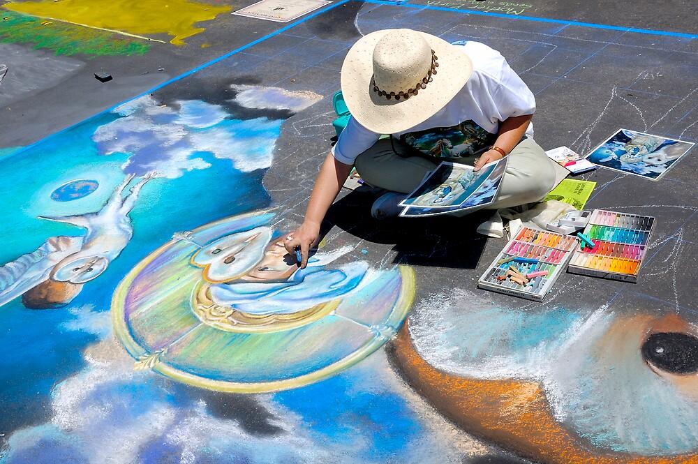 Calk Color Artist. Imadinari Festival by Eyal Nahmias