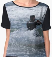 Kitesurfing in the Ocean - Coming Back to Shore Chiffon Top