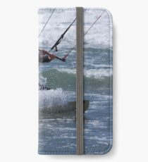 Kitesurfing in the Ocean - Coming Back to Shore iPhone Wallet/Case/Skin