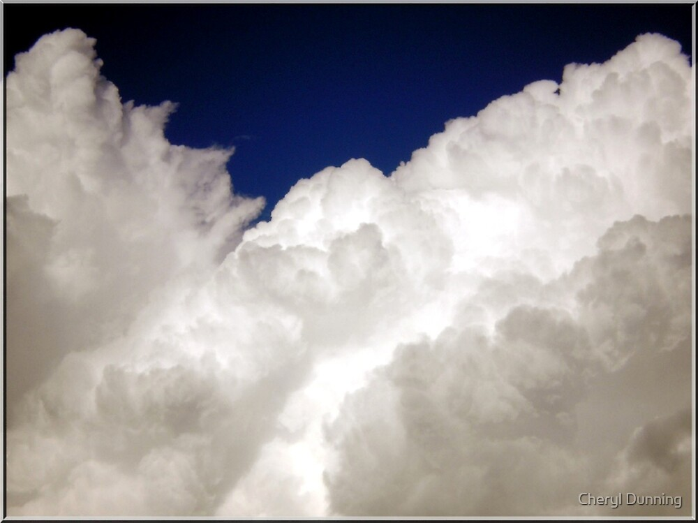 close up of a cloud by Cheryl Dunning