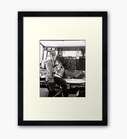 Autoharp Player, Farmer's Market-McMinnville, Tennessee Framed Print