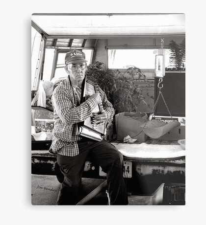 Autoharp Player, Farmer's Market-McMinnville, Tennessee Metal Print