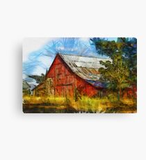 Eureka Road Barn - Rural Art Canvas Print