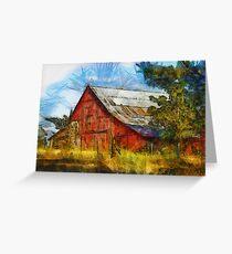Eureka Road Barn - Rural Art Greeting Card