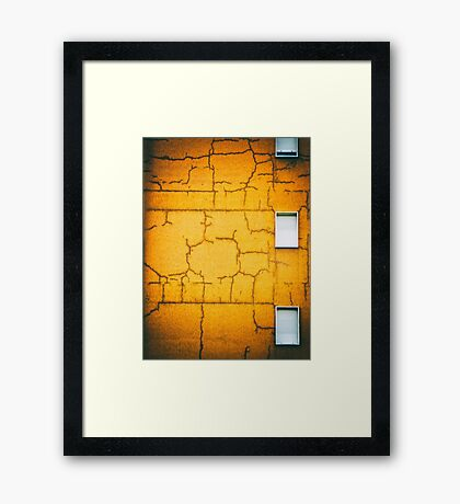 White shutters Framed Print