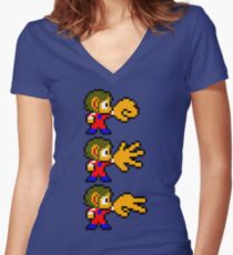 Alex Kidd - SEGA Master System Sprite Women's Fitted V-Neck T-Shirt