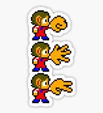 Alex Kidd - SEGA Master System Sprite Sticker