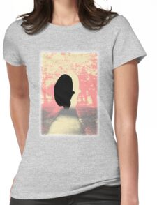 Pastel tone and black shadow. Pastel Contrast Womens Fitted T-Shirt
