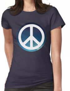 peace sign starry night sky Womens Fitted T-Shirt