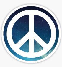 peace sign starry night sky Sticker