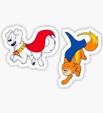 Krypto & Streaky!!! Sticker