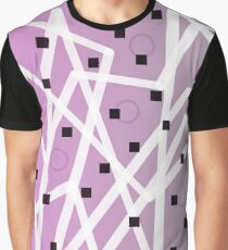 Zig Zag Lavender And Gray Graphic T-Shirt