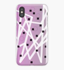Zig Zag Lavender And Gray iPhone Case/Skin