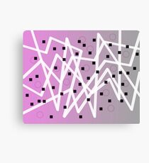 Zig Zag Lavender And Gray Canvas Print