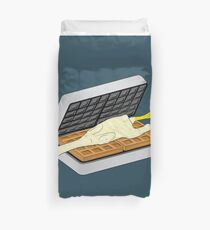 Rubber Chicken & Waffles Duvet Cover