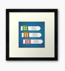 info graphic arrows structure Framed Print
