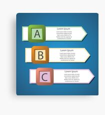 info graphic arrows structure Canvas Print