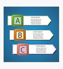 info graphic arrows structure Photographic Print