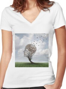 People Tree Women's Fitted V-Neck T-Shirt