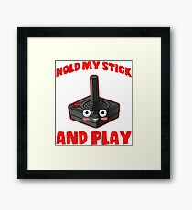 gaming hold and play stick controller console Framed Print