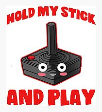 gaming hold and play stick controller console Photographic Print