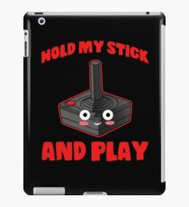 gaming hold and play stick controller console iPad Case/Skin
