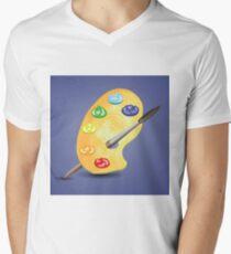 paint and brush Men's V-Neck T-Shirt