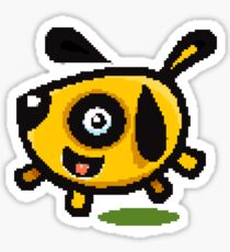 8 Bit doggy Sticker