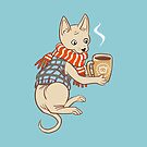 Sphynx cat with a cup of tea by maarika
