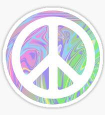 PEACE SIGN SWIRLY TRIPPY RAINBOW Sticker