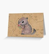 Groundhog Map Card Greeting Card