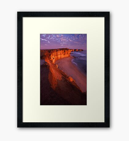 cliffs edge Framed Print