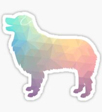Australian Shepherd Dog Breed Geometric Silhouette Pastel Sticker