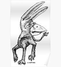 Donkey Bird Poster