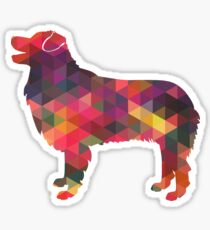 Australian Shepherd Dog Breed Geometric Silhouette Multi Sticker
