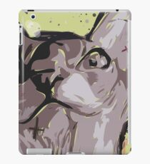 Cartoon style. Illustration poster with the evil cat. iPad Case/Skin