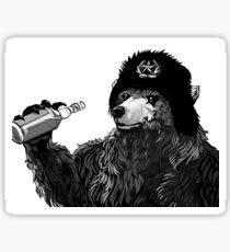 Russian bear drinking Wodka  Sticker