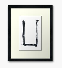 Hobo Sign - 054 - Camp Here Framed Print