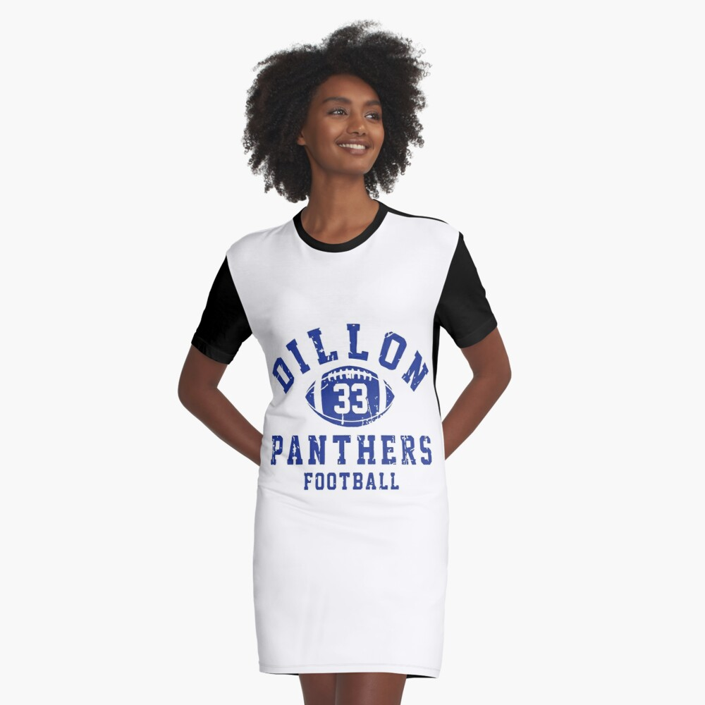 Dillon 33 Panthers Football Vestido camiseta