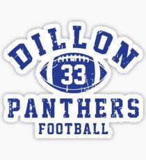 Dillon 33 Panthers Football Sticker