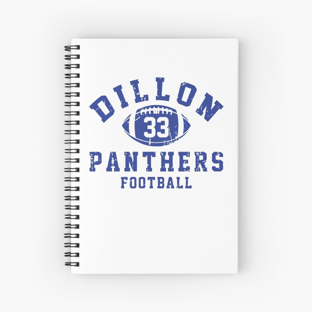 Dillon 33 Panthers Football Cuaderno de espiral