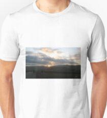 Man walking down country road Unisex T-Shirt