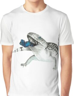 Cosmic Blue Tongued Lizard Graphic T-Shirt