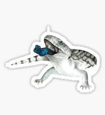 Cosmic Blue Tongued Lizard Sticker