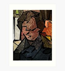Stained Glass Consulting Detective Art Print