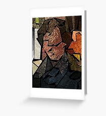Stained Glass Consulting Detective Greeting Card