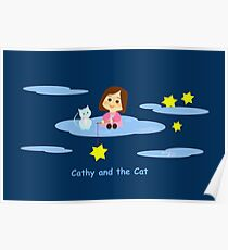 Cathy and the Cat with Stars Poster